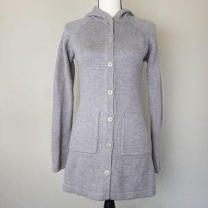Patagonia  Hooded Wool Cardigan Sweater